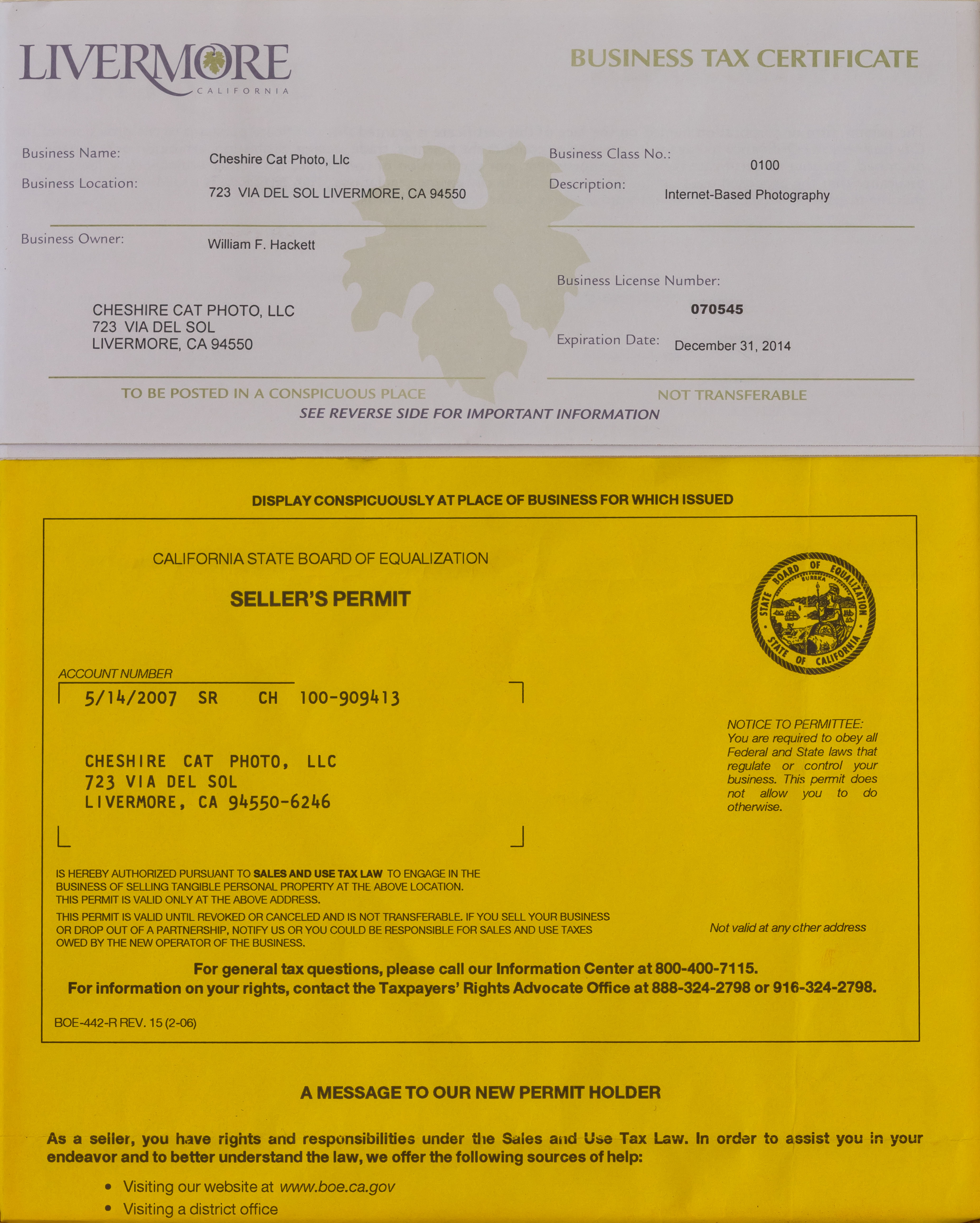 Sellers Permit Vs Resale Certificate: News, Facebook, Twitter: Photography Of California: Photos