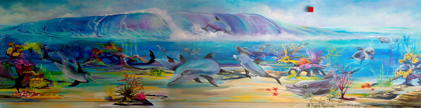 Dolphin mural East Avenue Middle School,