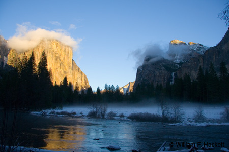 Bridalveil Meadow, Winter