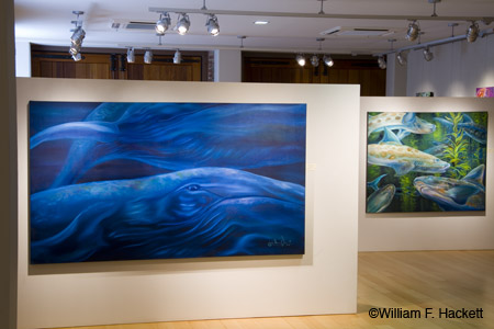 """Roaming in the Deep"" and ""Leopards of the Sea"" ©Engela Olivier-Wilson (photos ©William F. Hackett with permission of the artist"