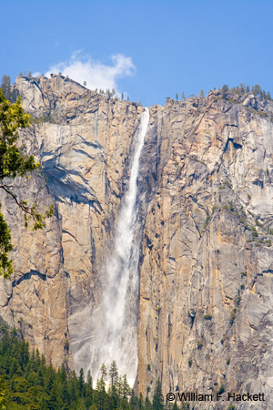 Ribbon Fall in Yosemite National Park